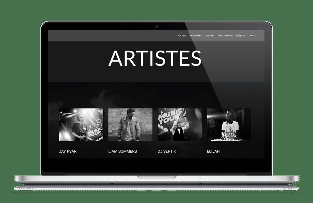 création-de-site-internet-pour-artistes-eBoostAgency