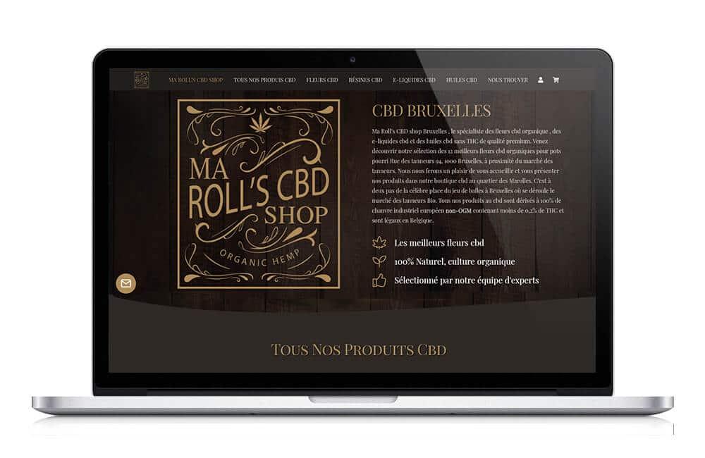 Site One page pour boutique CBD